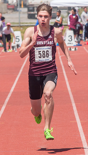 Frontenac's Cole Horsman will be bidding the first male Kingston Area competitor to win a medal in the 100 metres at OFSAA in 15 years — sportsgate.ca photo