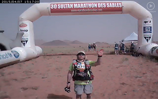 Kingston's Martin Mack completes the third stage of the Marathon des Sables, a 250-kilometre footrace across the Sahara Desert