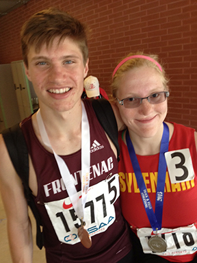 Cole Horsman of Frontenac and Shirley Hughes-Ryan of Sydenham were the Kingston Area medalists on the final day of the OFSAA track and field championships