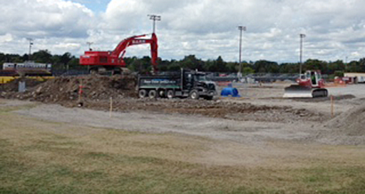 Work continues on site services for the new Richardson Stadium